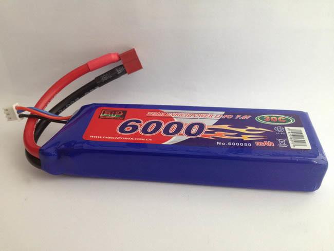 Avião 7,4V Softcase 6000mAh 30c Lipo Bateria