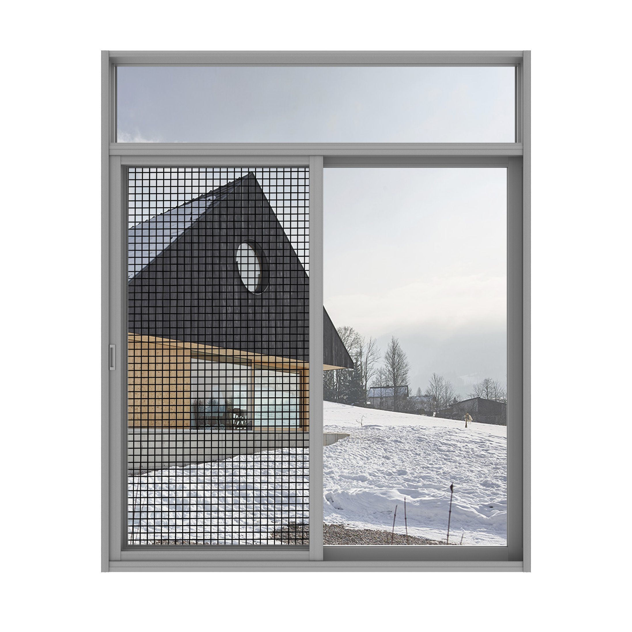 Laluminium Accessoires Pour Portes Et Fenêtres Vitre Coulissante De