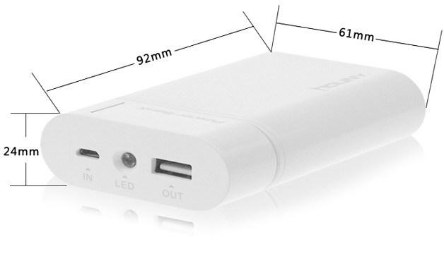 7800mAh power bank portátil de alta capacidade com dupla saída USB (HY-CD568)