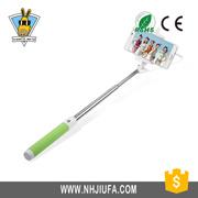 Jf China Oferta Cable de aluminio Polo tome Selfie Stick, Angular con cable Selfie ajustable bastón plegable Selfie coloridos Stick