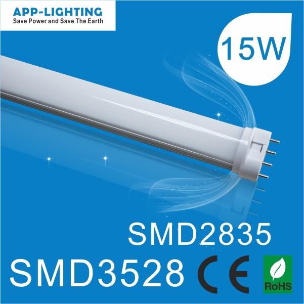 Tubo LED Pl SMD2835 da 15 W con lumen elevato 2g11 per il basso Leggero