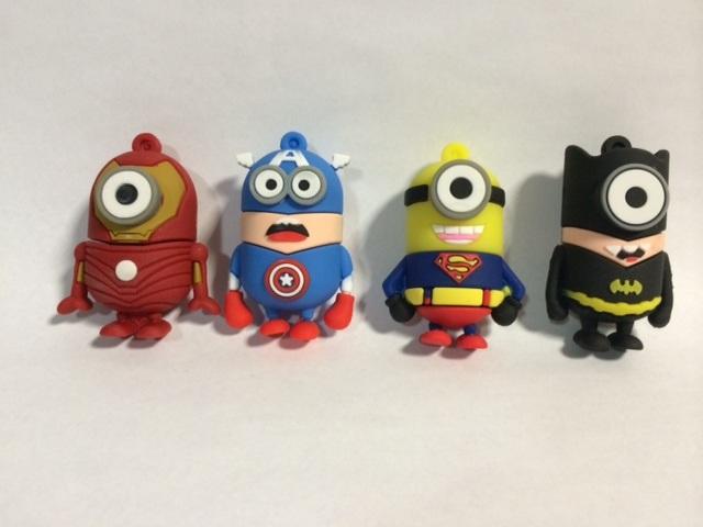 Os Minions Cartoon 3D Unidade Flash Memory Stick