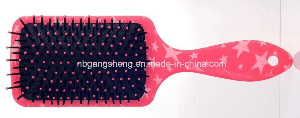 Moderner kosmetischer PlastikHairbrush mit Wasser-Übergangsdrucken