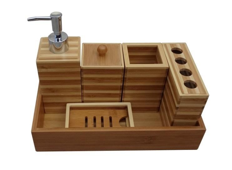 La salle de bains en bambou a plac avec le plateau jd for Accessoires pour salle de bain en bois