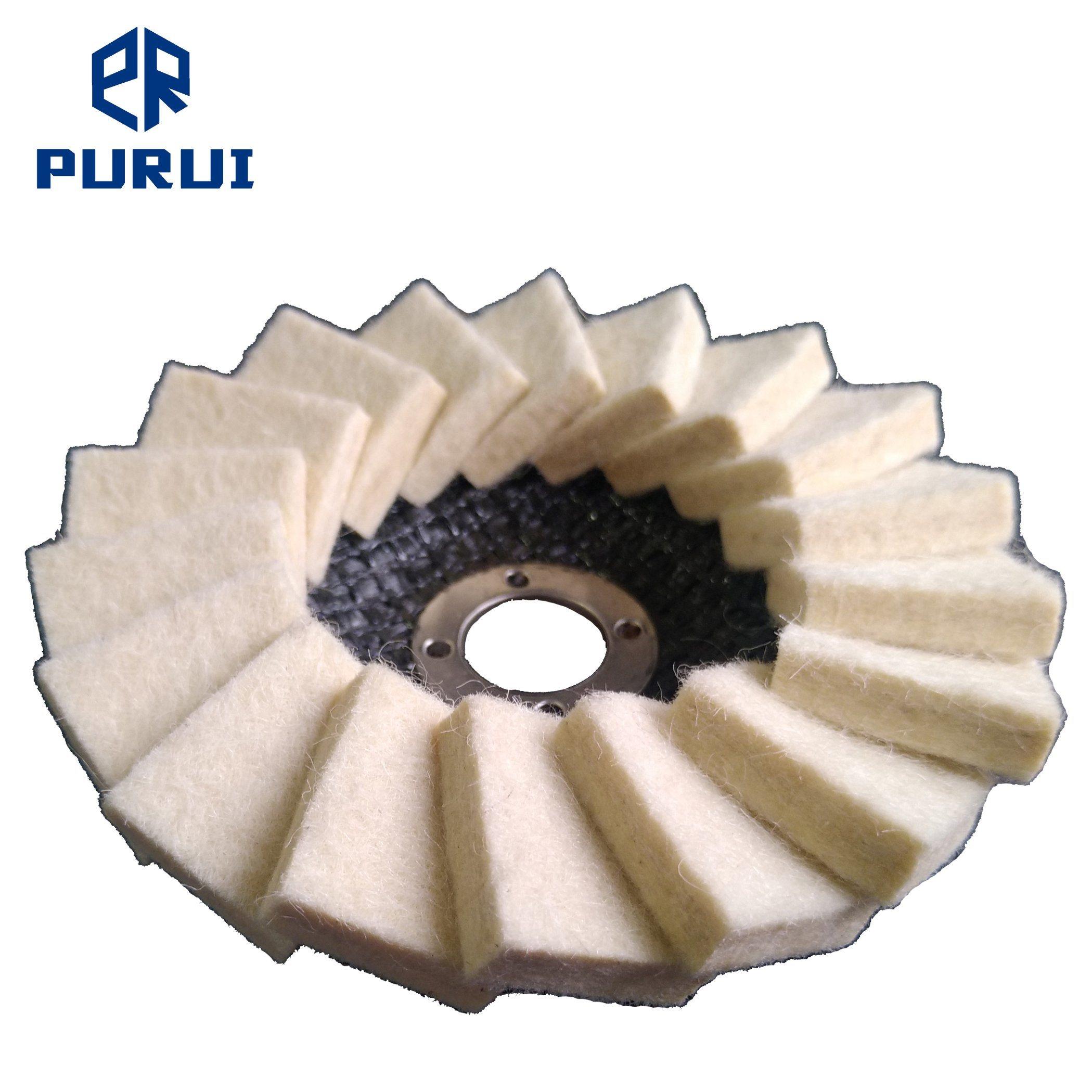 100mm X 16mm estimé trappe de polissage de disque pour le polissage final
