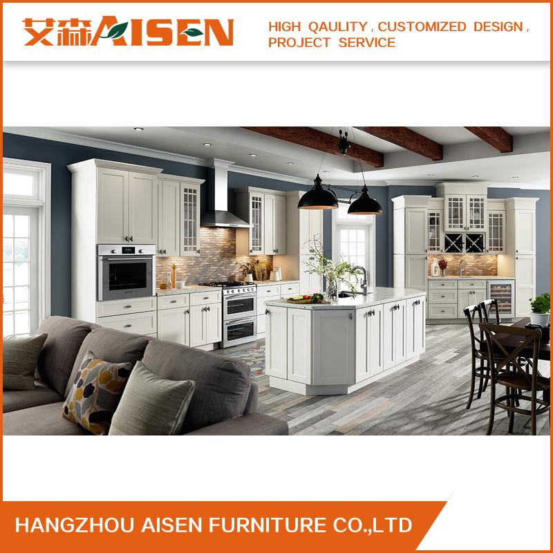 Foto de Muebles de cocina de estilo moderno de agitador de madera ...