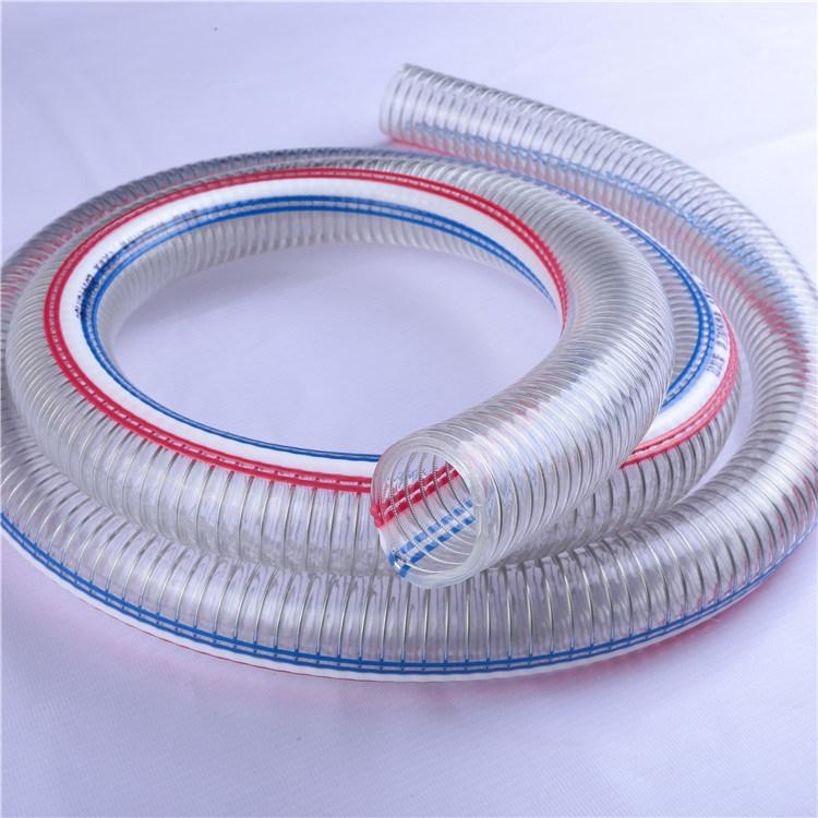 7/8 Inch flexibler PVC-Draht verstärkter Ablass-Schlauch foto auf de ...
