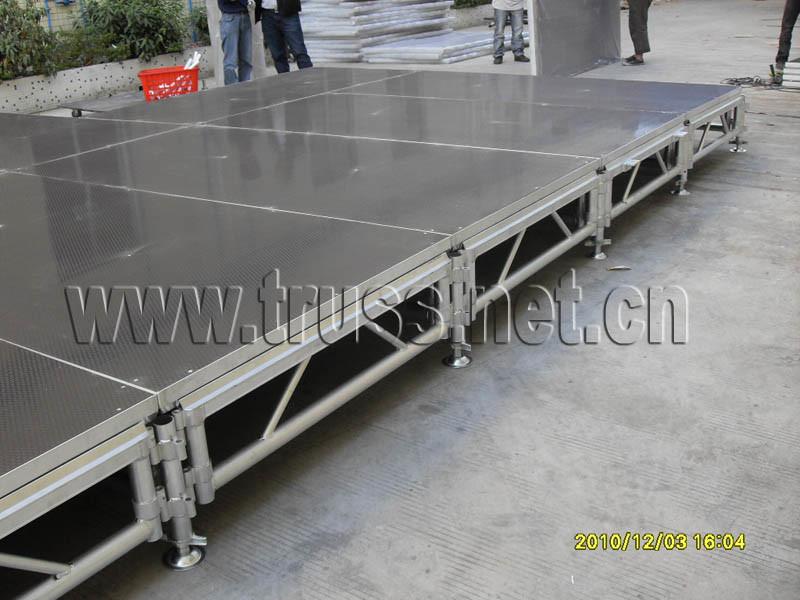 Alta qualità Aluminum Portable Stage con Adjustable Height e Mobile Folding Platform con lo Anti-Slip Surface e Layer Stage