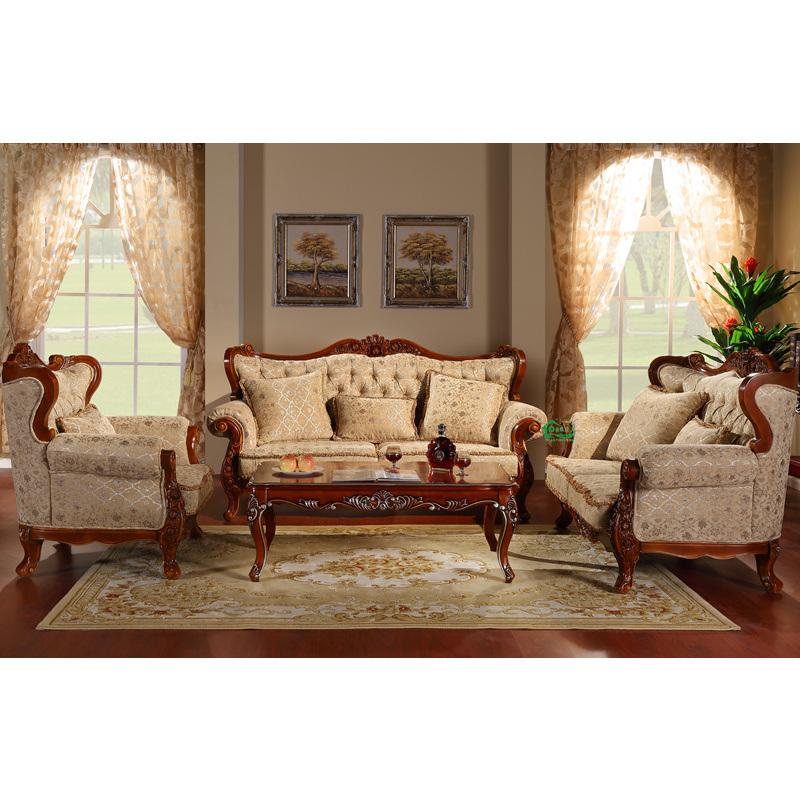 Foto de sof de madera con mesa de esquina para muebles de for Muebles esquina para salon