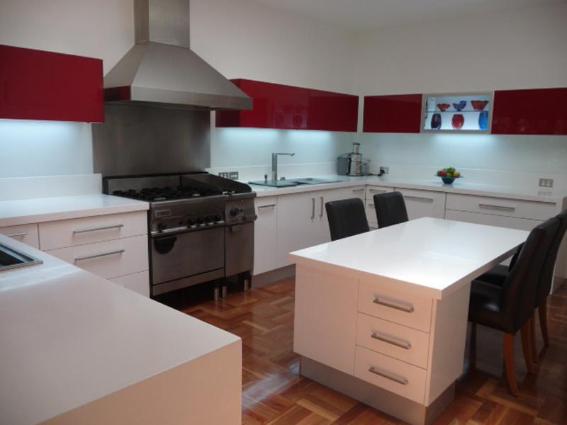 Tipo Austrália MDF laca armário de cozinha (BR-L009)