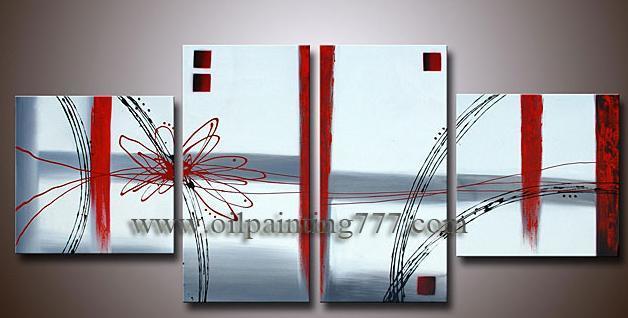 Enmarcado Oleo arte abstracto moderno Deco (4P-AB123611) – Enmarcado ...