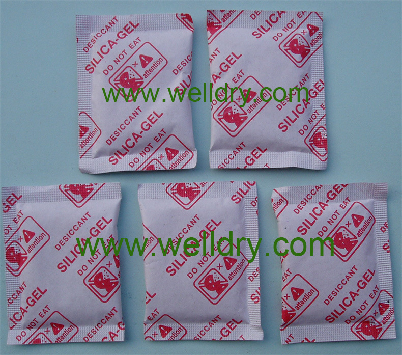 Coated Paper Bag With Red Printingの5 G Silica Gel