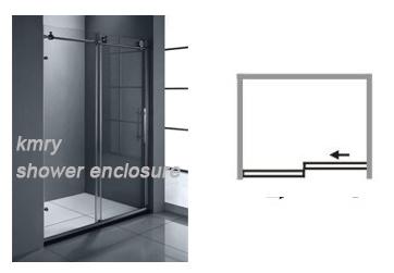 304ステンレス鋼のシャワー・カーテン(KT8013)