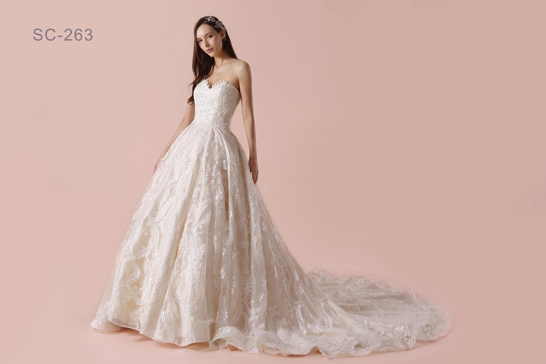 Foto de Escote de enamorados de la moda 2018 vestidos de novia con ...