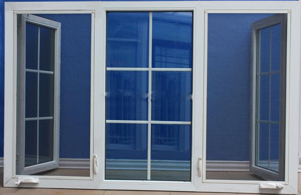 Amerikanisches Flügelfenster-Fenster der Art-Hurrikan-Auswirkung-PVC/UPVC