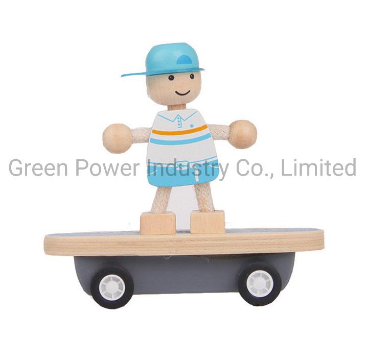 Het Houten Speelgoed van uitstekende kwaliteit van het Karretje van het Skateboard voor de Gift van de Verjaardag