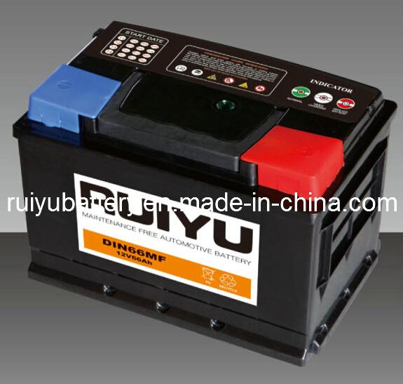 La norme DIN 66 56619 12V 66Ah Batteries Auto batterie de voiture
