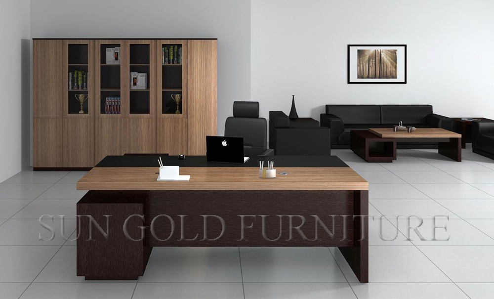 design moderne bureau de bureau de luxe bureau ex cutif mobilier en bois photo sur fr made in. Black Bedroom Furniture Sets. Home Design Ideas