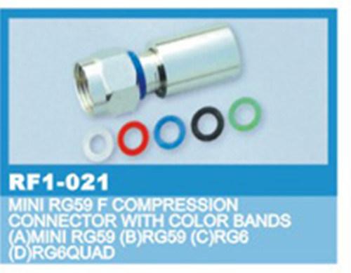 F разъема Rg59/6 сжатия цветных полос