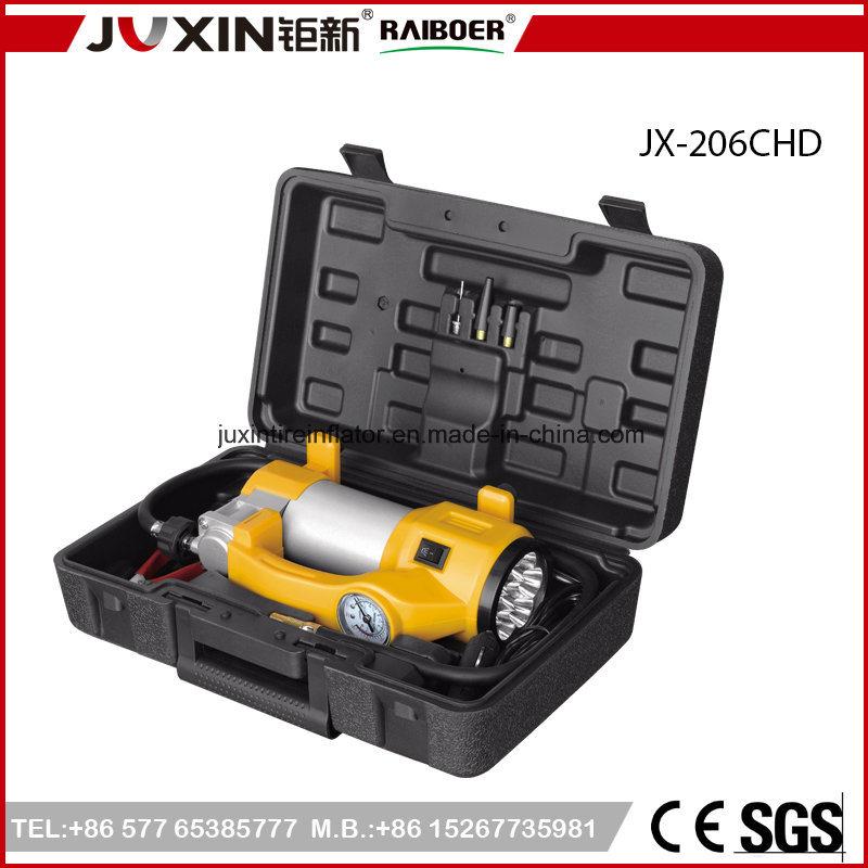 Kit di riparazione chiaro luminoso della gomma del compressore d'aria dell'automobile del gonfiatore resistente LED da 12 volt