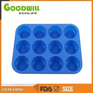 & Non-Stick silicona Moldes de magdalenas tazas reutilizables.