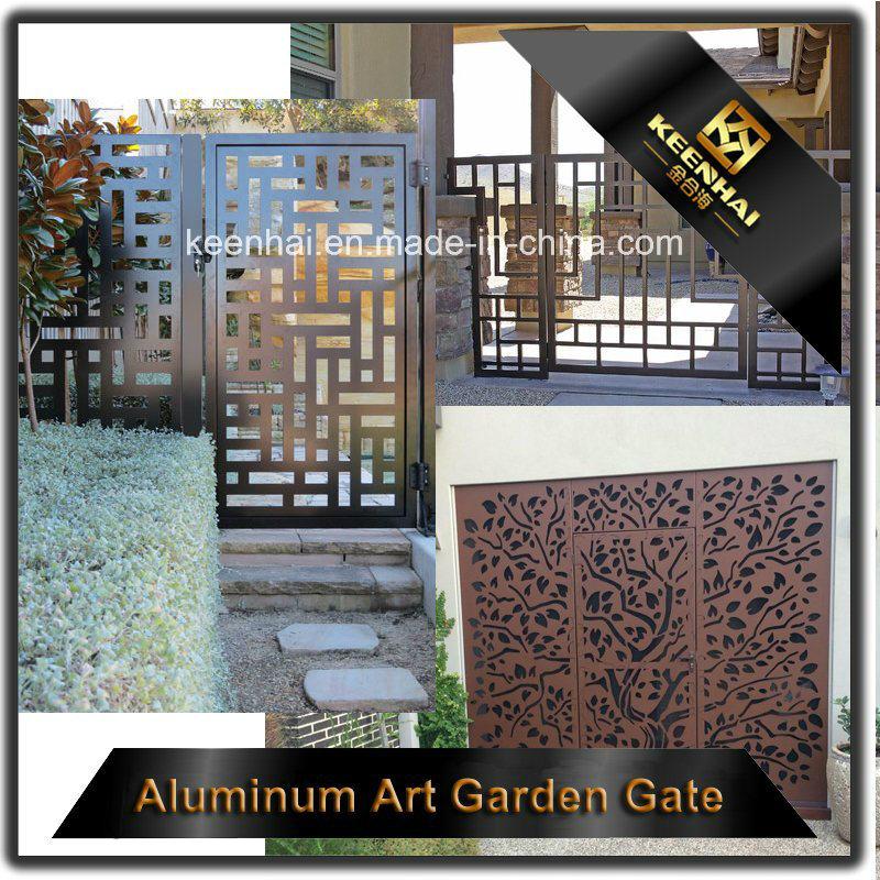 Découpe laser Jardin coulissante de porte en métal perforé