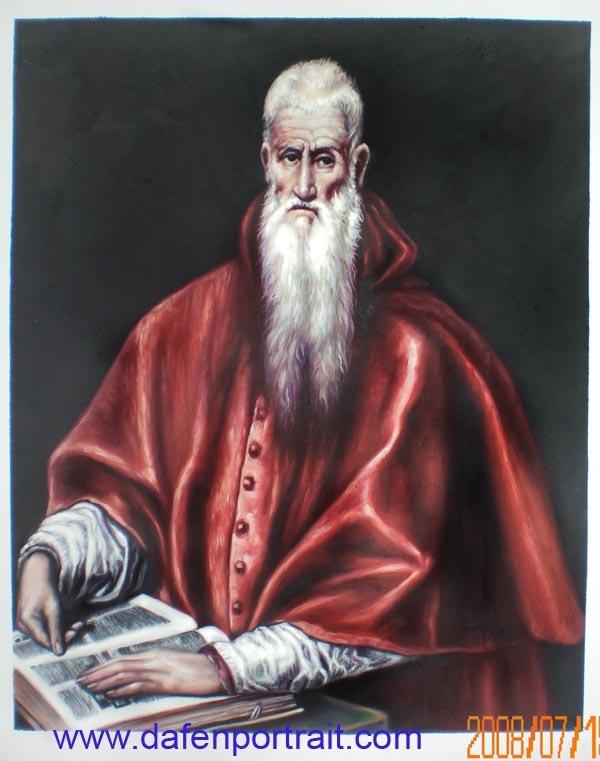 Pintura de retrato do Cardeal