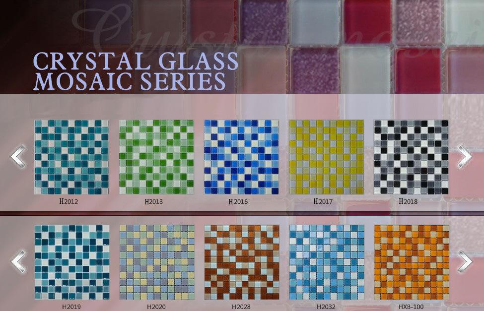 Cina mattonelle di mosaico di vetro di colore per la stanza da bagno piscina serie di h h2021 - Mosaico vetro bagno ...