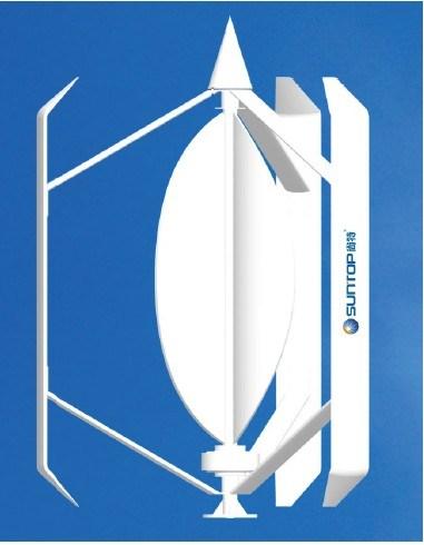 Het verticale Product van de Wind van de As (SUNTOP- 4OOW- WG- H - A)