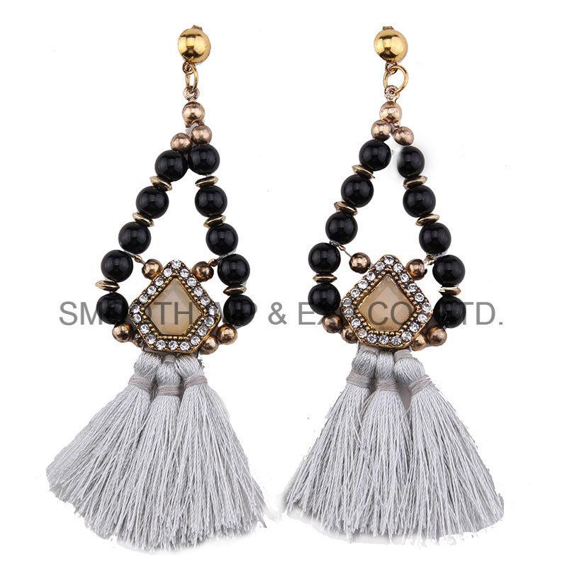 362f457af274 Borla largos cordones de colores pendientes étnicos Moda Mujer Bisutería