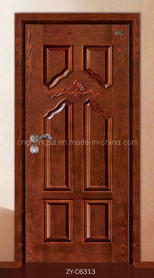 Puerta de madera s lida tallada de las puertas interior y - Modelo de puertas de madera ...