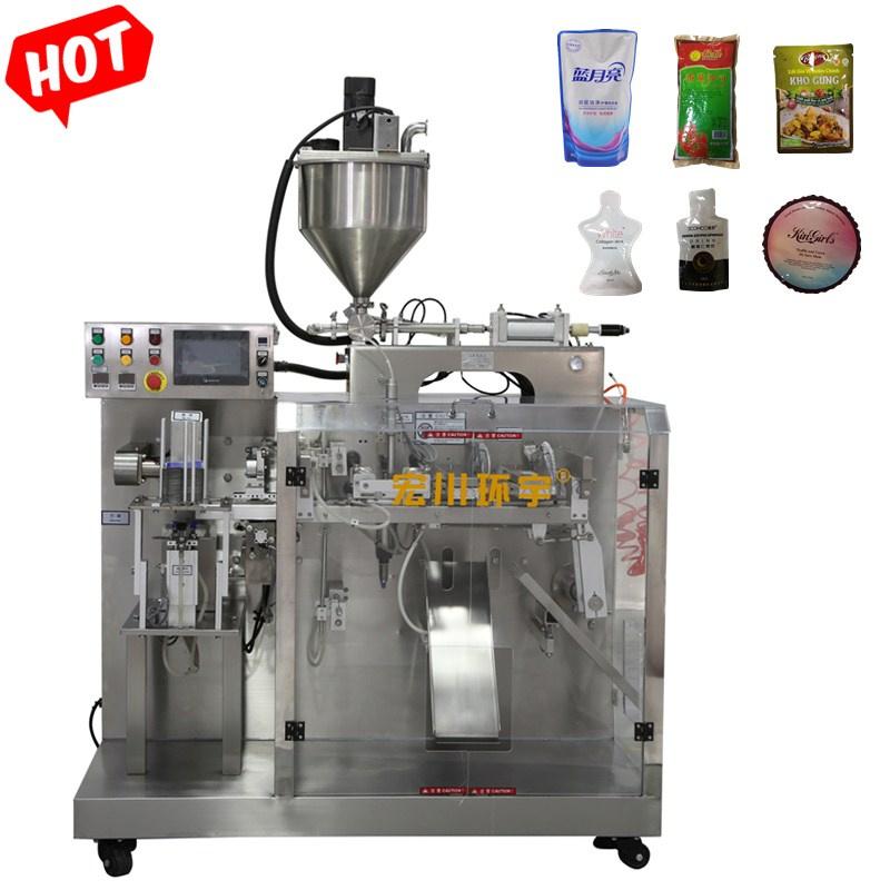Enchimento automático selagem máquina de embalagem para alimentos à base de tomate salada de chili molho de congestionamento Cole Líquido Bolsa Premade máquinas de embalagem
