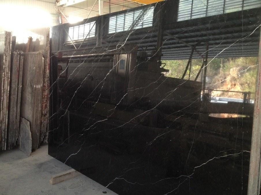 Chine Pour L Hall En Marbre Noir Salle De Bains Carrelage De Sol