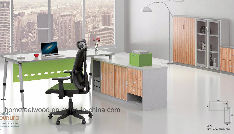 - Metallbein Aus Holz Executive Office Desk Moderne Büromöbel (HF