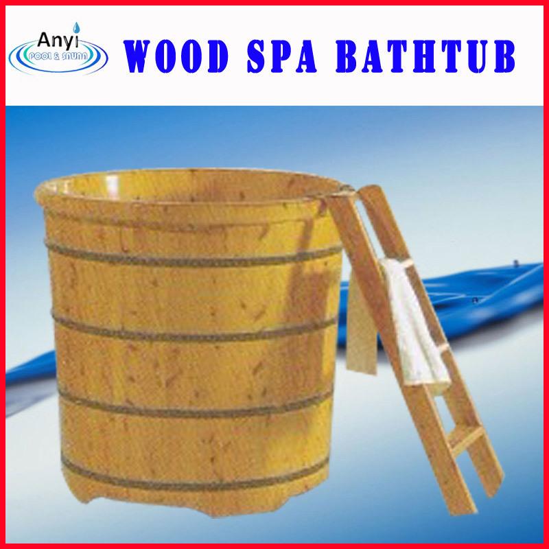 Vasca da bagno di legno diritta libera del cedro kf1390 for Pulitore di cabina