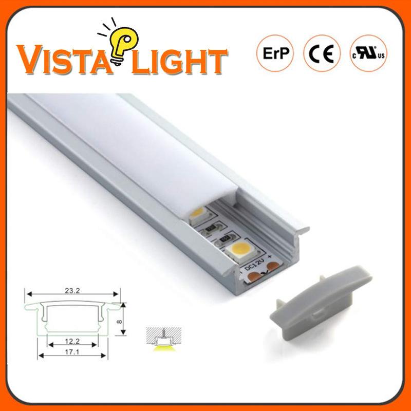 Lâmpada LED de alumínio de cabeça de perfil com faixa de LED 2835