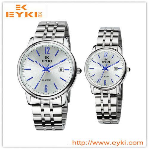 De Horloges van het Paar van het Roestvrij staal van Eyki
