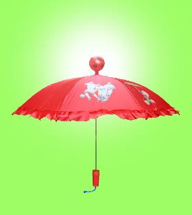 행복한 축구 팬 우산