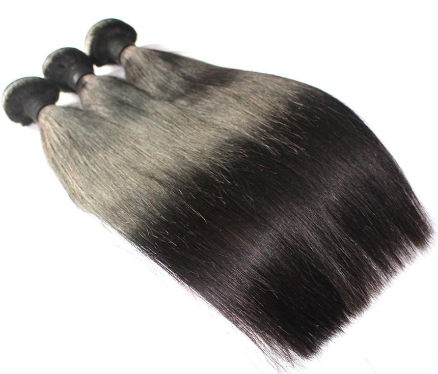 8A自然なカラーまっすぐなブラジルのバージンの人間の毛髪のよこ糸