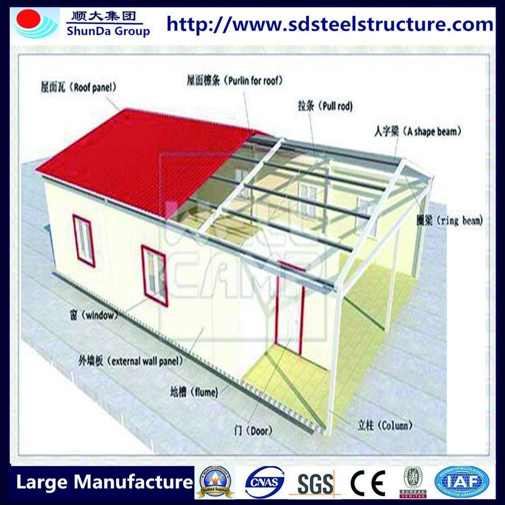 Novo modelo de estrutura de aço montada fácil Prefab Casa móvel