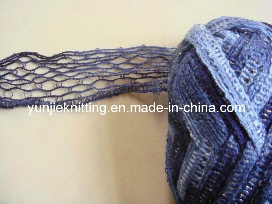 Gostavas de fios de malha com Lurex para tricotar