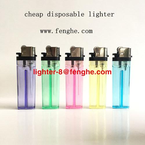 Fábrica descartável Fh-003 de China do isqueiro do sílex do isqueiro de cristal barato