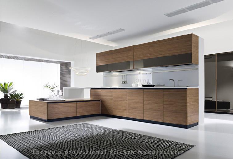 L moderno muebles de la cocina de la melamina de la forma for Muebles de cocina en l