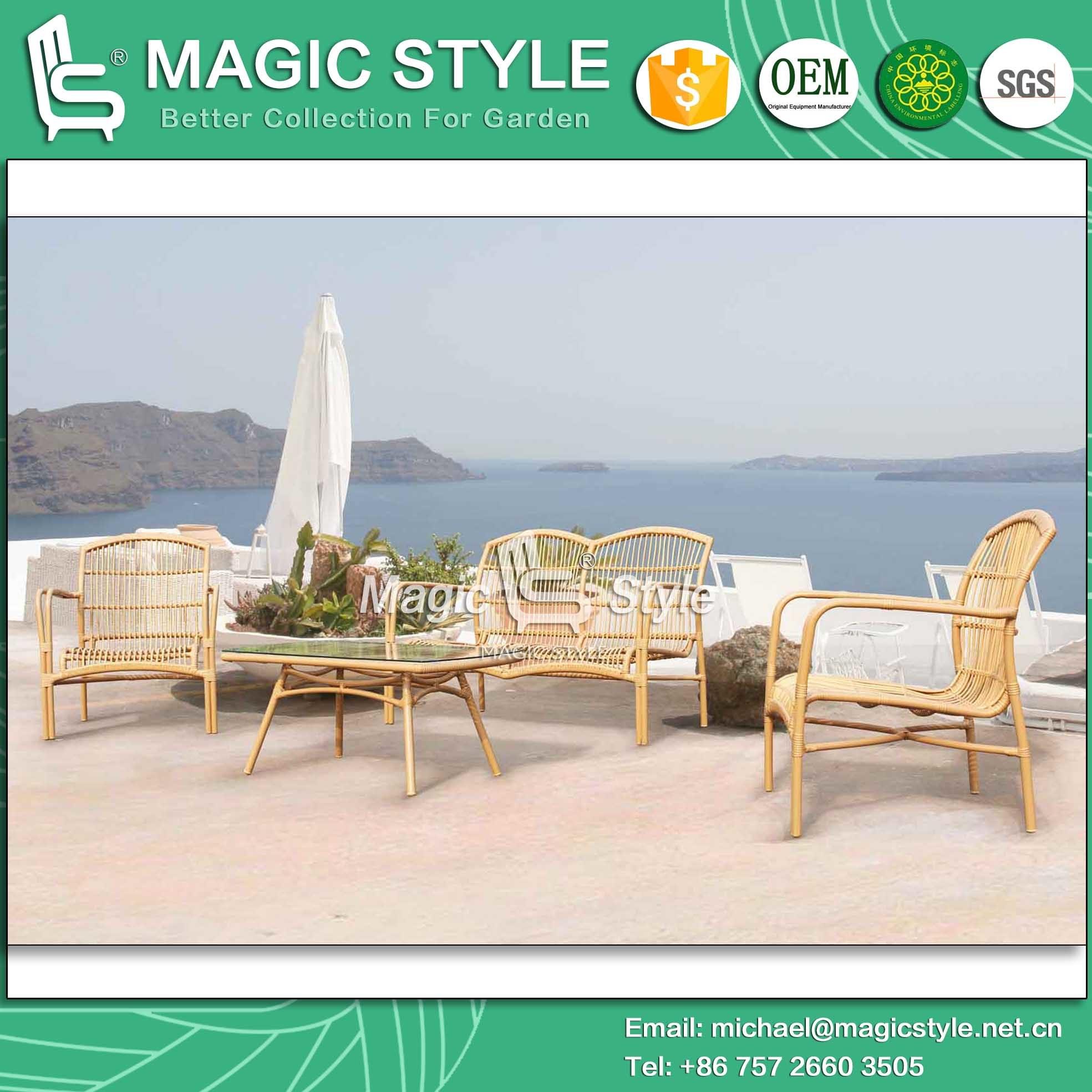 Foto de Mimbre redonda sofá nuevo diseño de muebles de exterior ...