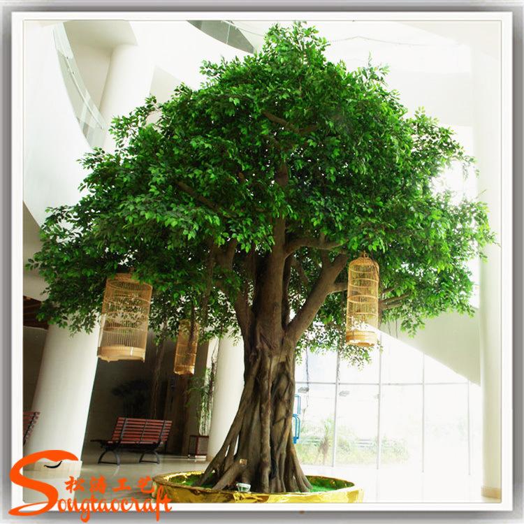 Nouveau design décoration de jardin Ficus artificiel arbre Banyan ...