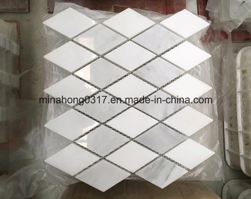 Weißes Marmor-/Granit-Mosaik für Wand-/Küche-/Fußboden-/Badezimmer ...