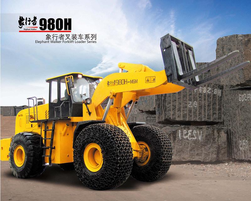Mgm980h 32t de la Chine chariot élévateur à fourche chargement frontal