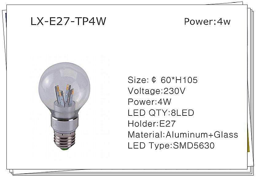 Luminária com LED Light (LX-E27)