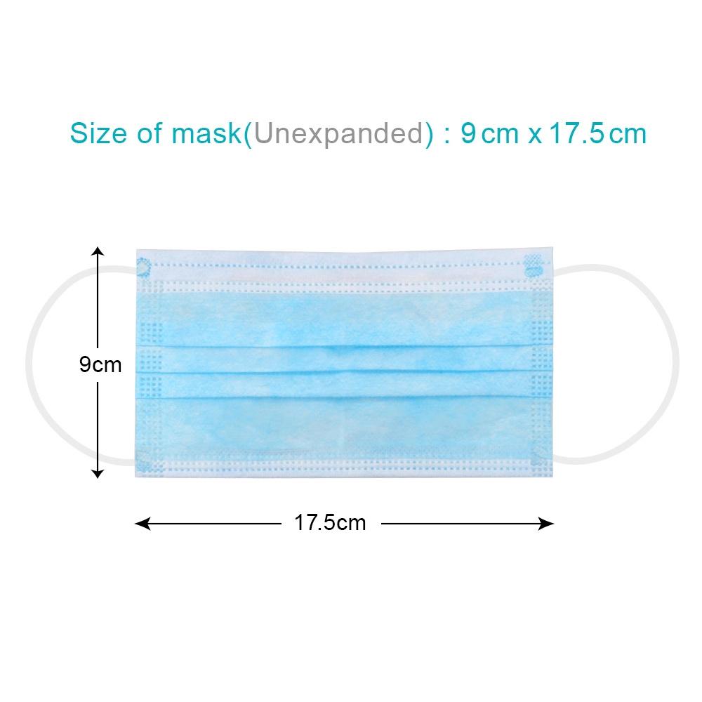 I fornitori della Cina comerciano la maschera all'ingrosso di protezione a gettare del respiratore di prezzi di fornitore di Earloop della polvere dalla bocca 3ply della bocca non tessuta protettiva del filtro