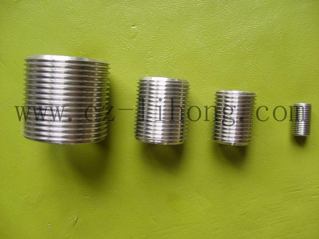 """1/4"""" acciaio inox 316 DIN2999 nipplo di chiusura"""